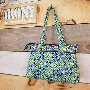 Vera Bradley Bright Grn & Blue Tote Bag